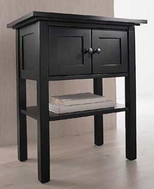 Например, можно покрыть старую мебель несколькими слоями черного лака и...