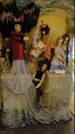 А. С. Пушкин в окружении персонажей «Сказки о царе Салтане»