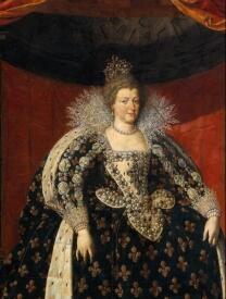 Мария Медичи, портрет работы F. Pourbus the Younger