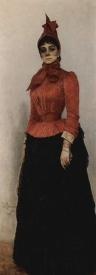Красная гарибальдийка. Портрет баронессы В. Искуль (1889)