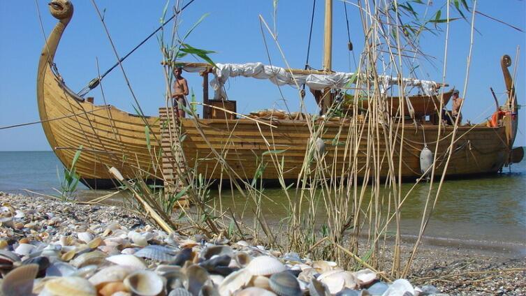 Стоянка у острова Тюлений на Каспии
