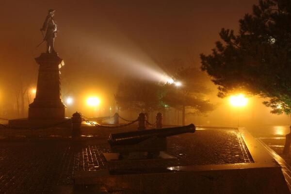 Современный Таганрог. Осенняя ночь