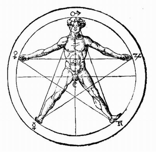 Пентаграмма из«Оккультной философии» Корнелия Агриппы