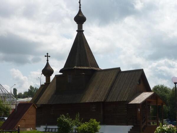 Деревянный храм Александра Невского на Площади 1000-летия Витебска