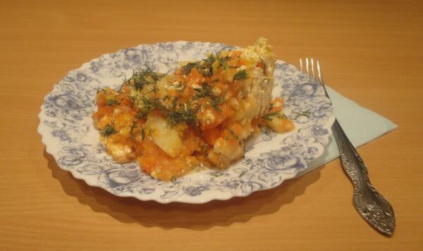 Оранжевое солнышко запечённой тыквы