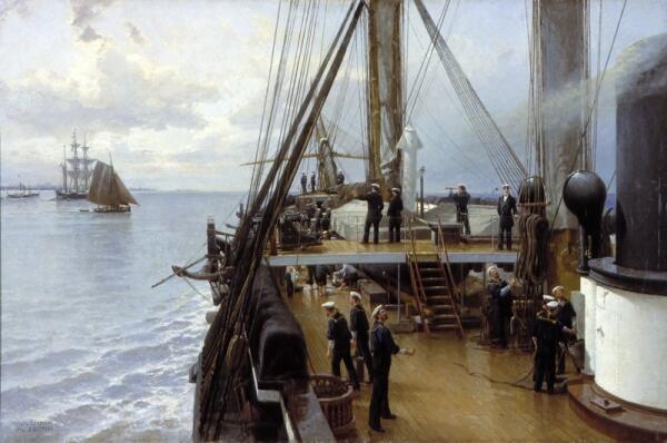 На палубе крейсера