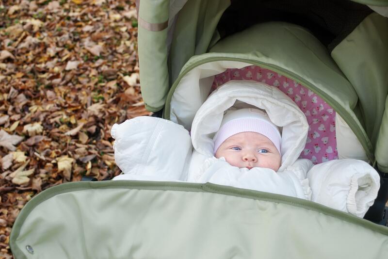 Коляска для новорожденного летом