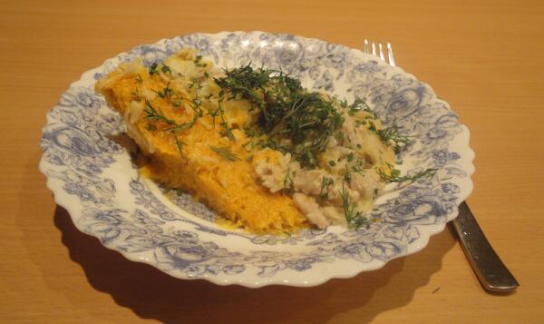 Ну, а вот так это блюдо выглядит на тарелке