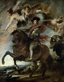 Рубенс. Конный портрет короля Испании Филиппа 1У.