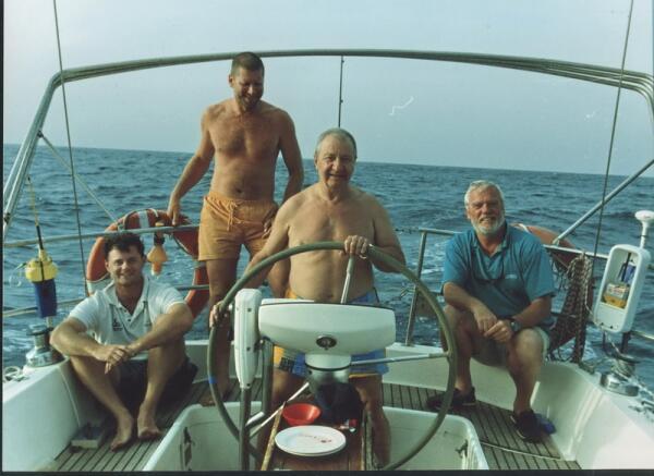 Наша команда на  яхте