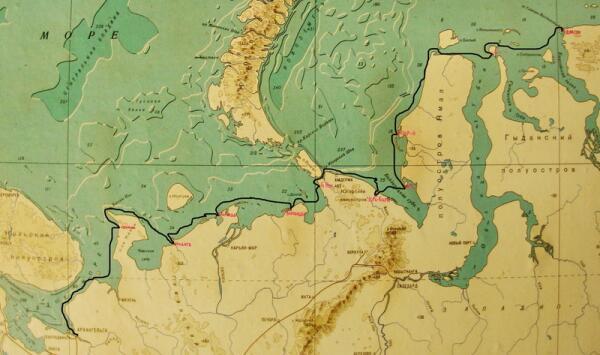 Карта маршрута лодки