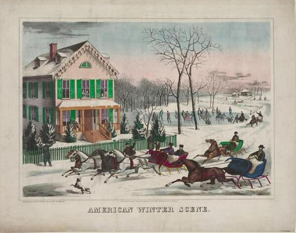 На улице, где жил Пьерпонт, часто проводились зимние гонки на санях