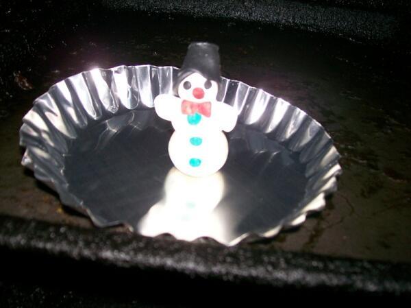 Запекаем снеговика в духовке