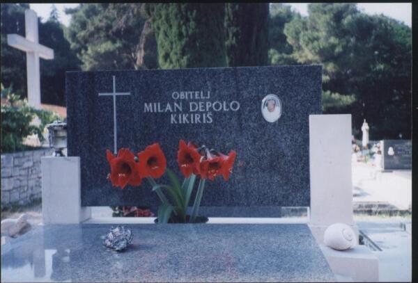 На кладбище в Корчуле. Могила одного из потомков Марко Поло