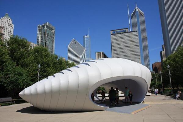 Временный павильон в Millennium Park, Чикаго, США