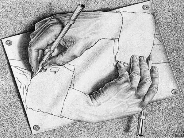 М. К. Эшер «Рисующие руки»