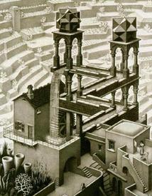 М. К. Эшер «Водопад». Вечный двигатель воочию