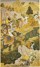 Охота на носорога индийского падишаха Бабура (ок. 1530 г.)