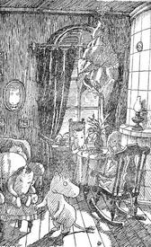 «Случилось нечто неслыханное, не случавшееся никогда с тех самых пор, как первый муми-тролль погрузился в зимнюю спячку. Маленький Муми-тролль проснулся и заснуть уже больше не мог»