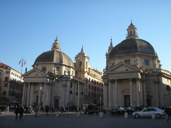 Церкви-близнецы на Пьяца дель Пополо