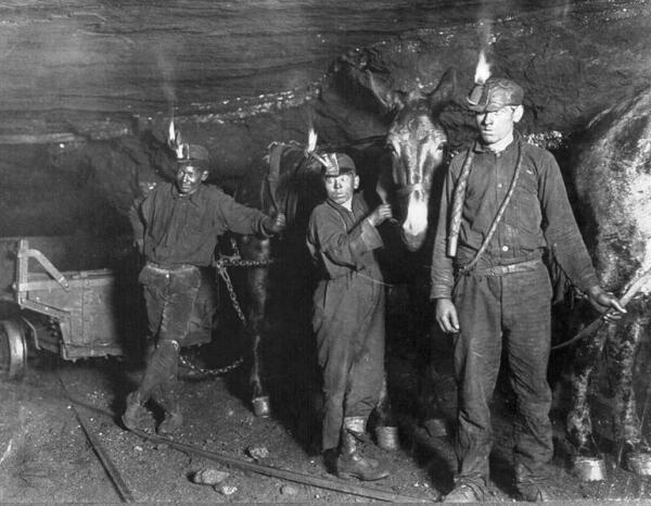 Дети-шахтеры в Западной Вирджинии, 1908 г.