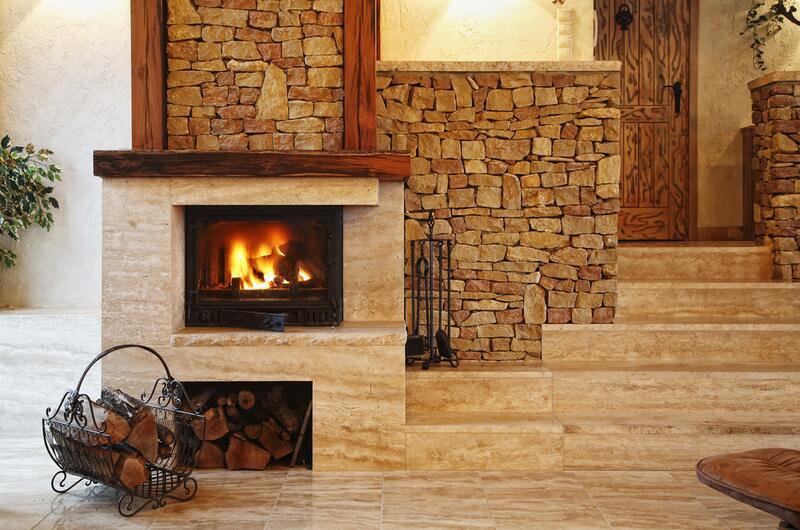 Фото домов каминов зима картинки