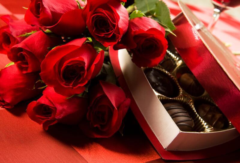 Цветы с конфетами открытки, сердечко днем