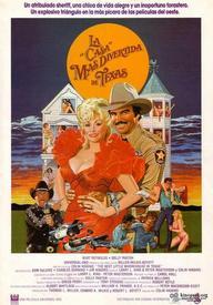 Постер к к/ф «Best Little Whore house In Texas» (1982), для которого Долли Партон переписала песню и в котором снялась сама