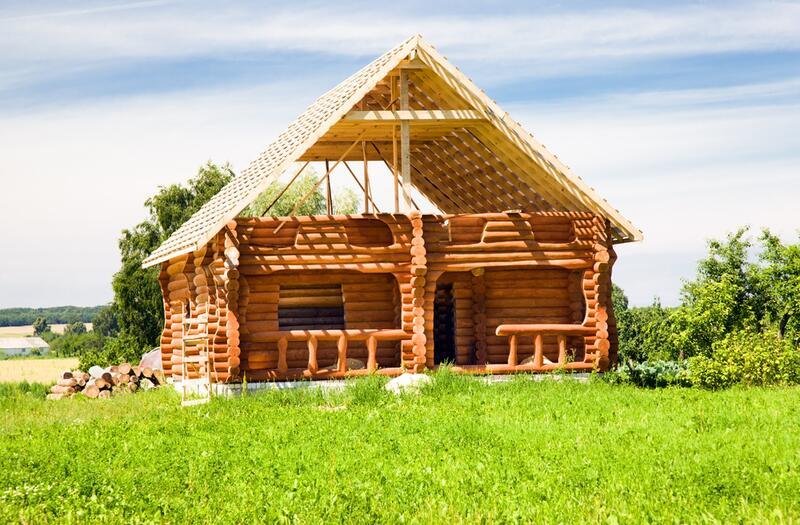Построить дом своими руками бревен фото