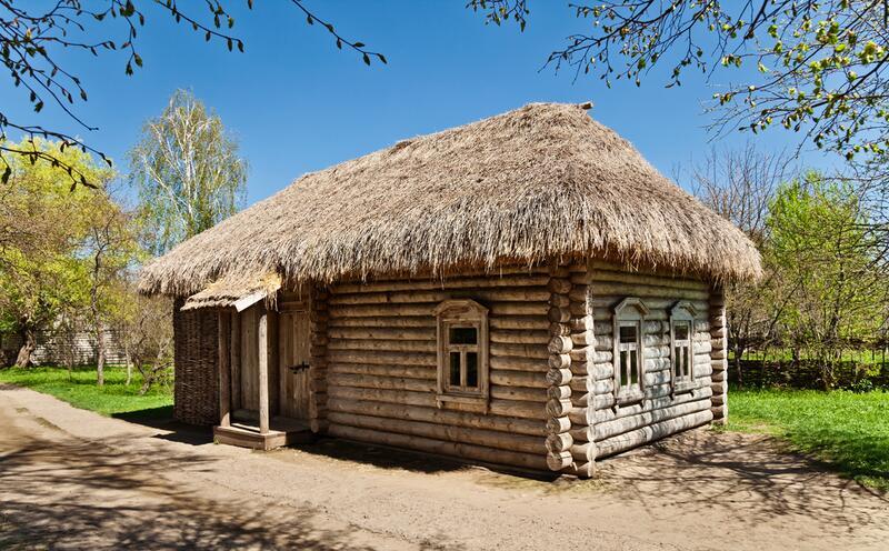 Дом из бревен своими руками фото