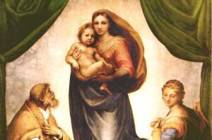 Кого изобразил Рафаэль в образе Сикстинской Мадонны?