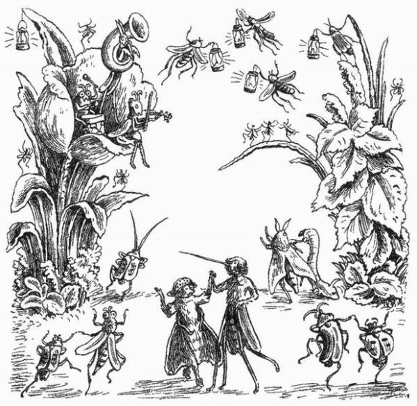 «(Быстрова) стала утверждать, что рисунки неприличны... Как будто найдется ребенок, который до такой степени развратен, что близость мухи к комару вызовет у него фривольные мысли!» (К. Чуковский)