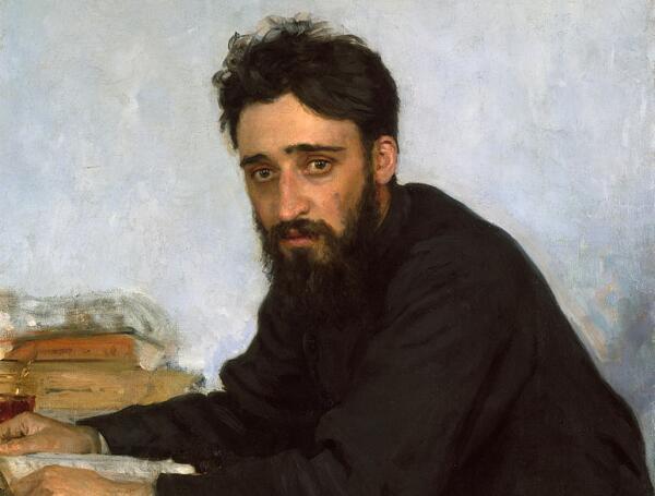 Портрет В. Гаршина кисти И.Е. Репина, 1884 г.