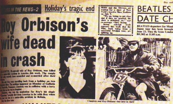 6 июня 1966 года мотоцикл Клодетт врезался в грузовик
