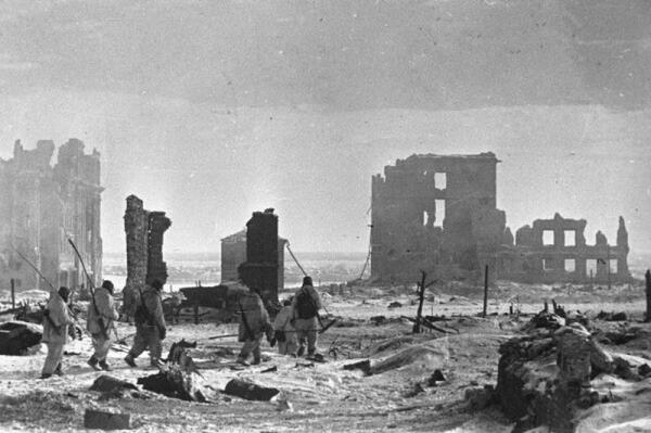 Центр Сталинграда, 2 февраля 1943 года.
