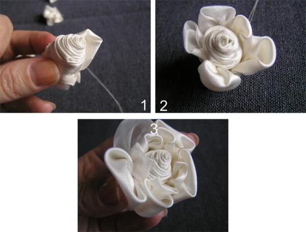 Соединение деталей цветка