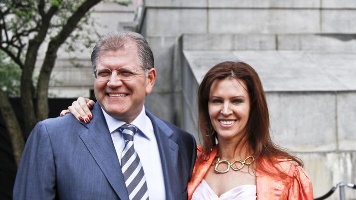 Роберт Земекис с супругой Лэсли