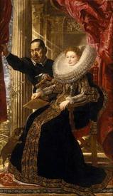Рубенс. Мария Гримальди и ее муж