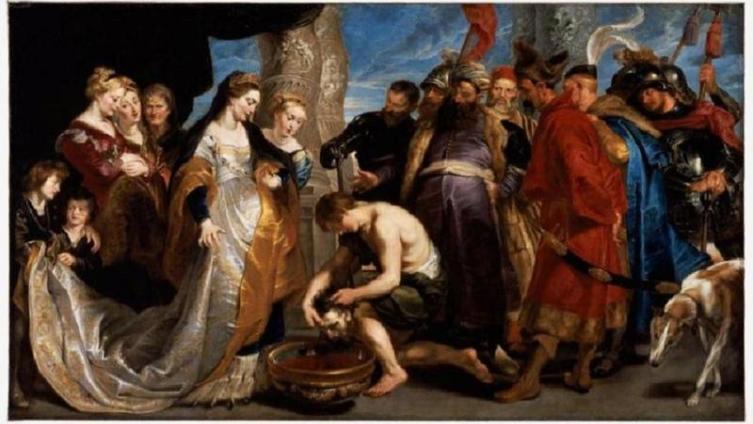 Рубенс. «Томирис с головой Кира». 1622 год