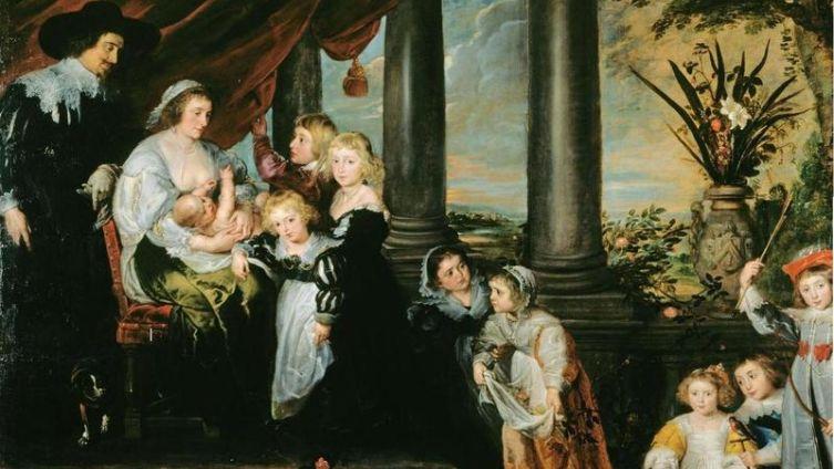 Рубенс. «Семья сэра Балтазара Гербье». 1629. Королевская коллекция, Лондон, Англия