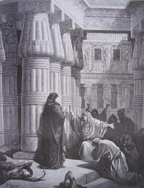 Г. Доре. Фараон соглашается отпустить евреев из египетского плена