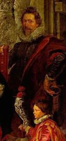 Рубенс. Портрет Алатеи Тальбот. Фрагмент. Неизвестный и карлик с соколом
