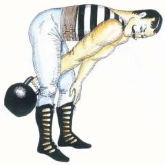 Упражнения с гирями -силовые упражнения.
