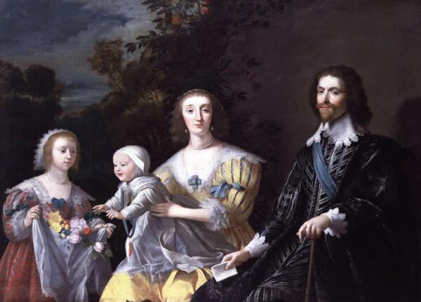 Gerrit_van_Honthorst. Герцог Букингем со своей семьей. 1628г.