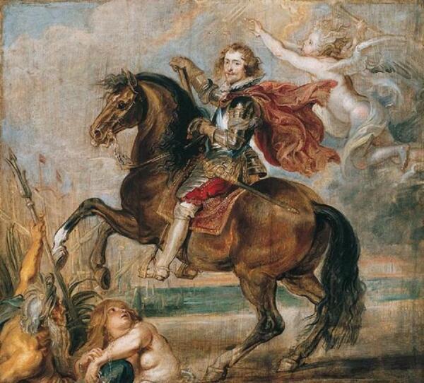 Рубенс. Этюд к конному портрету герцога Букингема. 1625г.