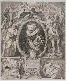 Гравюра Ворстермана по портрету Рубенса