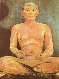 Писец. Египетская статуя (III тысячелетие до н.э.)