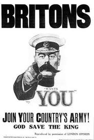 Британский вербовочный плакат, на котором изображён лорд Китченер