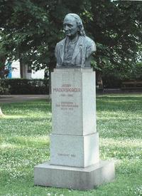 Памятник Й. Мадершпрегеру в Вене