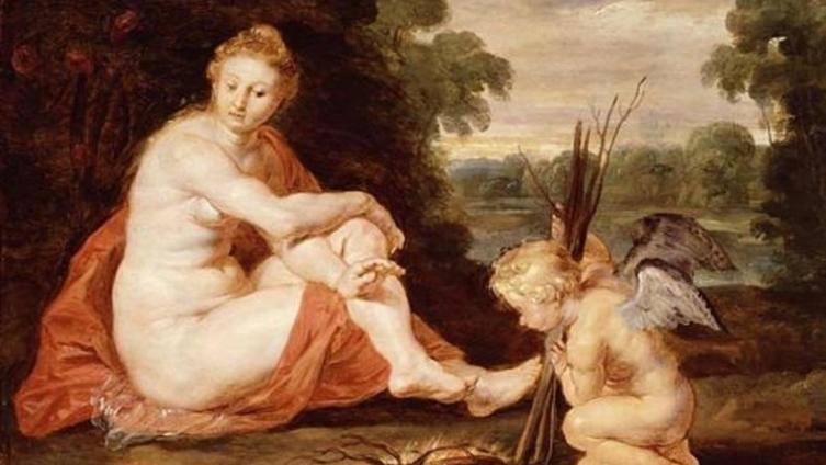 Рубенс. Венера и Купидон у костра